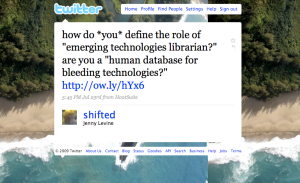 """""""Are you a human database for bleeding technologies?"""""""