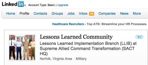 LinkedIn: Lessons Learned Community