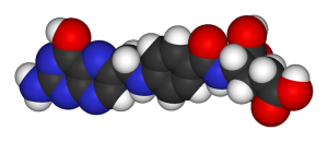 Folic Acid Space-filled Molecule