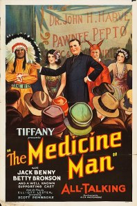 Jack Benny portrays a doctor selling patent medicines to the unwary.